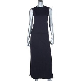 Pure DKNY Womens Petites T-Shirt Dress Knit Side Slits