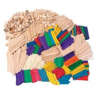 Creativity Street Wood Craft Activity Kit, Assorted Colors, Pack of 2000