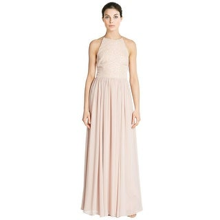 Vera Wang Sequined Top Sleeveless Long Evening Gown Dress - 12