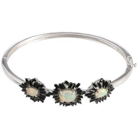 925 Sterling Silver Ethiopian Opal Bracelet