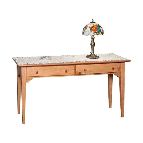 Sofa Table with Storage Honey Pine Enfield 27.5 x 52 - Brown