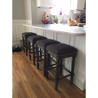 Renate Grey Counter Stools Set Of 2 15072615