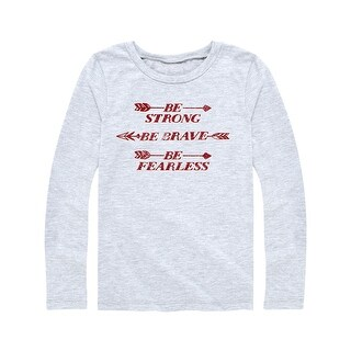 Be Strong Be Brave - Youth Girl Long Sleeve Tee