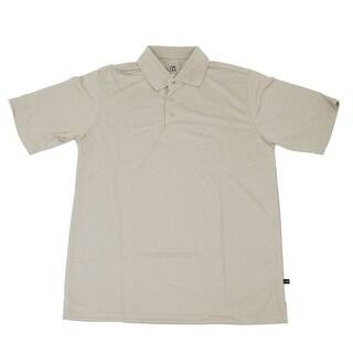 PGA TOUR Men's Polo Shirt - Stone Solid - 2X Large