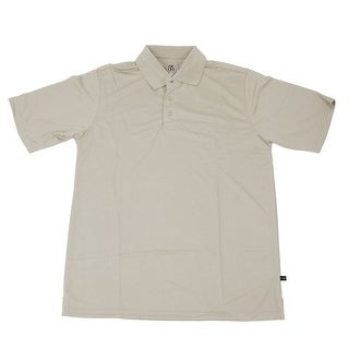 PGA TOUR Men's Polo Shirt - Stone Solid - Small