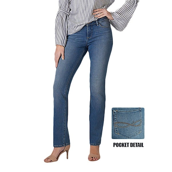3ff59a5025c Shop Lee Women s Perfect Fit Straight Leg Jean - Free Shipping On Orders  Over  45 - Overstock - 22322124