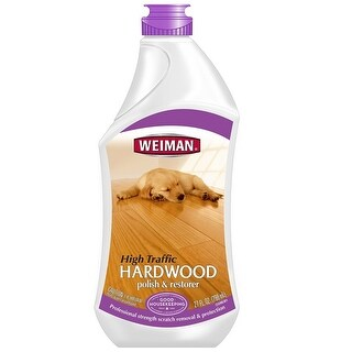 Weiman 123 High-Traffic Hardwood Floor Polish & Restorer, 27 Oz