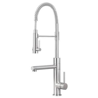 Artisan AF-660 Premium Single Handle Industrial-Style Pre-Rinse Kitchen Faucet - - Satin Nickel