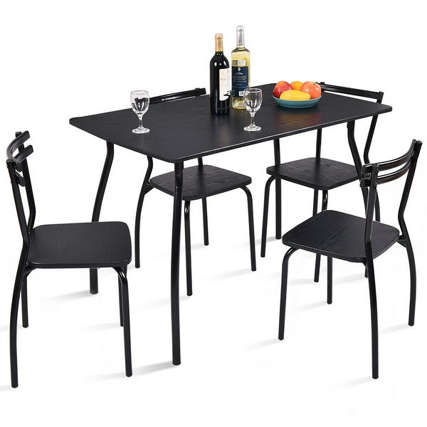 Shop Dining Room Sets: Shop Costway 5 Piece Dining Set Table And 4 Chairs Home