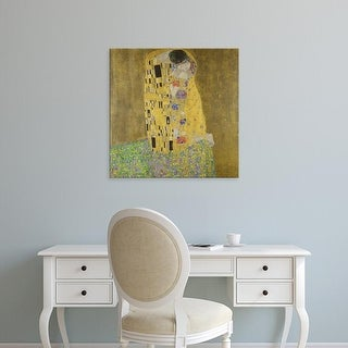 Easy Art Prints Gustav Klimt's 'The Kiss' Premium Canvas Art