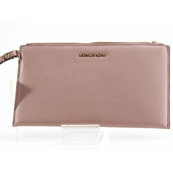 469073fbfc3f Shop Michael Kors NEW Pink Fawn Mercer Clutch Leather Handbag Purse ...
