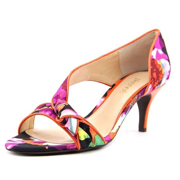 J. Renee Jaynnie Women Orange/Fuchsia Floral Sandals