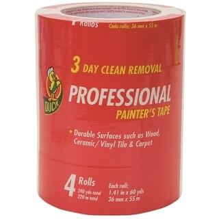 "Duck 1362492 Professional Painter's Tape, Beige, 1.41"" x 60 Yard, 4 Rolls"