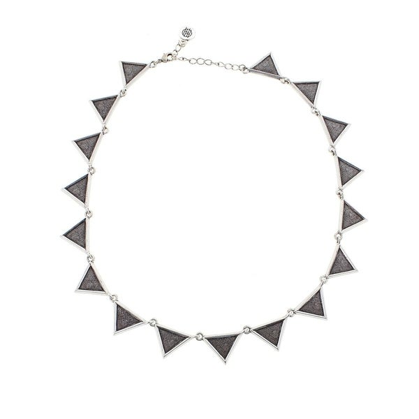 House Of Harlow 1960 Womens Collar Necklace Antiqued Etched