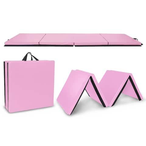 10ftx4ftx2in Waterproof Gymnastics Mat,Four Folding Yoga Mat