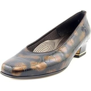 Ara Graz Women W Round Toe Synthetic Brown Heels