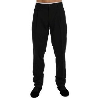 Dolce & Gabbana Dolce & Gabbana Black Cotton Rayon Dress Formal Pants