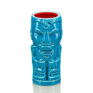 DC Comics Superman 16oz Geeki Tiki Mug, Blue - Multi