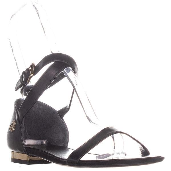 3211aad934bf Shop Lauren Ralph Lauren Davison Ankle Strap Flat Sandals