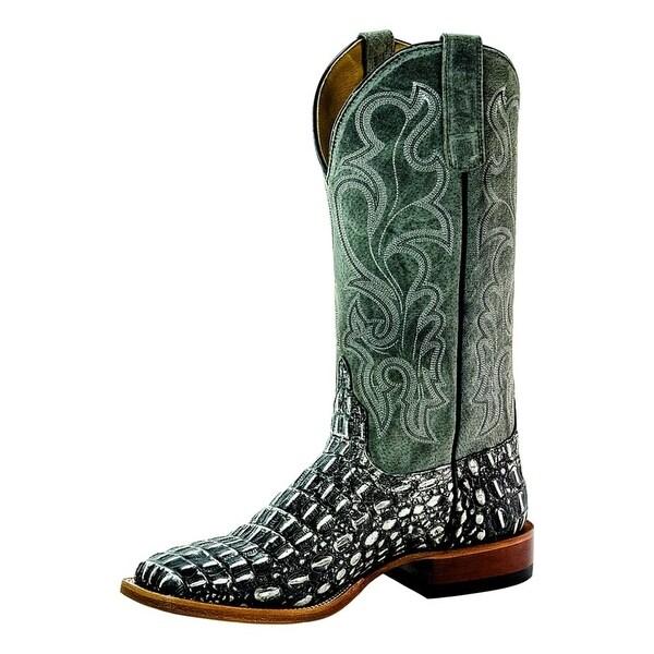 Horse Power Western Boots Mens Caiman Print Roper Black Gray