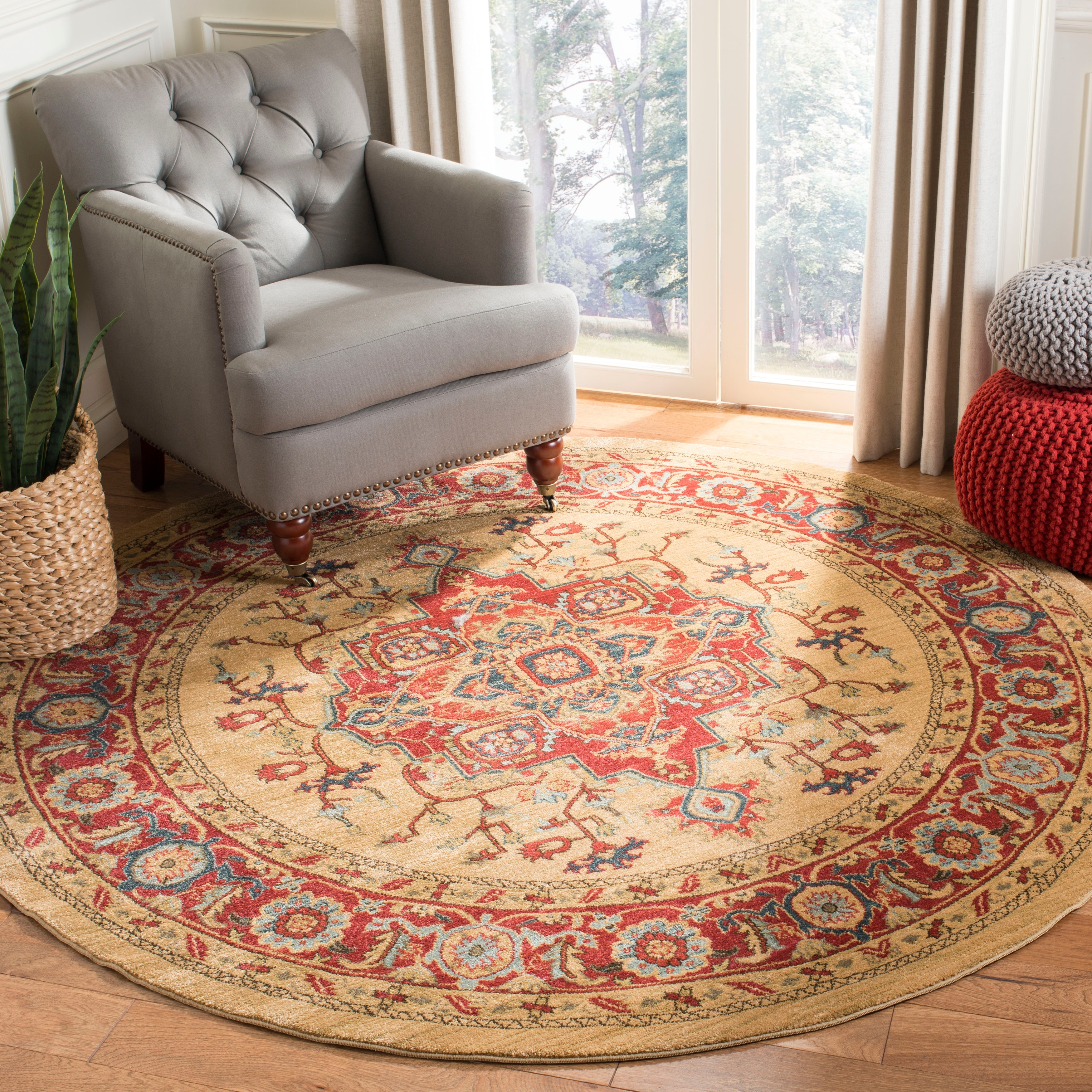 Safavieh Mahal Reka Traditional Grandeur Red Natural Rug On Sale Overstock 9508590