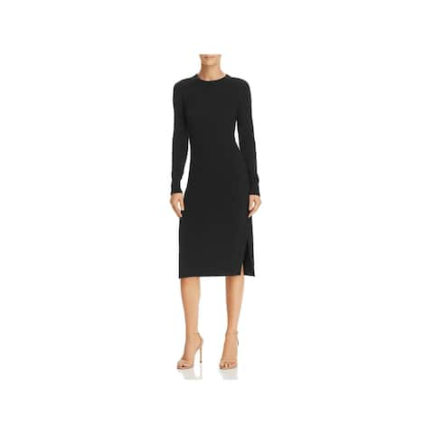 Joie Womens Blac Snyder Sweaterdress Cashmere Long Sleeve