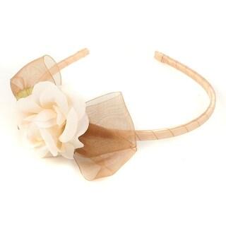 Kids Dream Girls Champagne Flower Organza Bow Narrow Headband