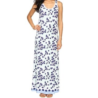 Tommy Bahama NEW Blue Women Size Large L Border Printed Tile Maxi Dress