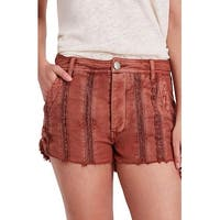 Free People Peach Red Womens Size 12 Bermuda Walking Lace Shorts