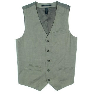 Perry Ellis Mens Quilted Lined Suit Vest