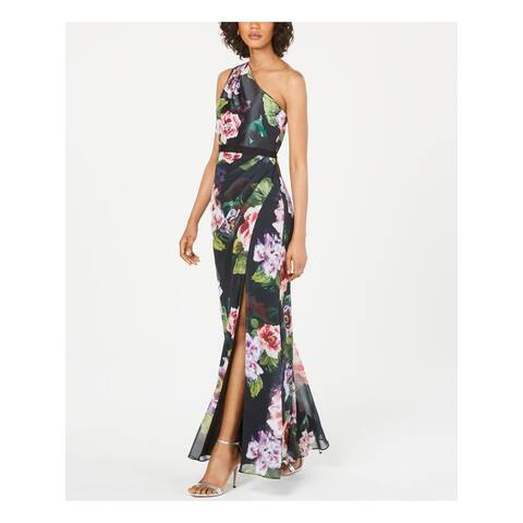 ADRIANNA PAPELL Black Sleeveless Full-Length Dress 4