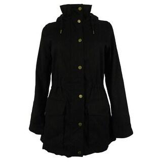 Celebrity Pink Juniors' Faux Fur Hood Anorak Jacket - s