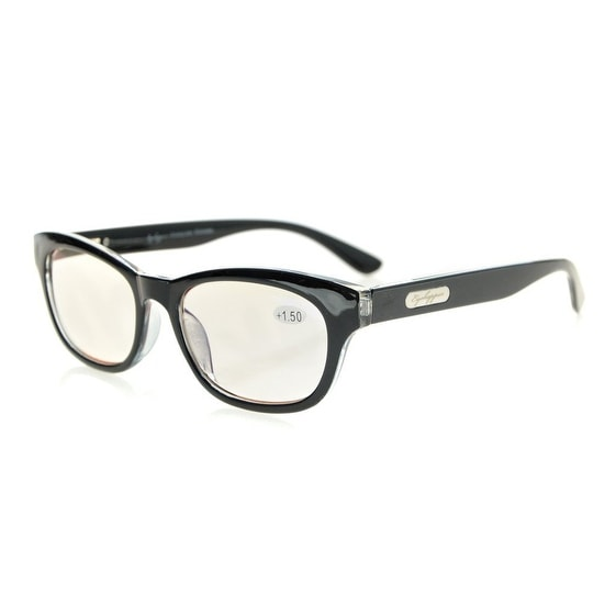 c29763c77e1 Shop Eyekepper Quality Spring Hinges Mens Womens Amber Tinted Lenses  Computer Reading Glasses Black+0.5 - Free Shipping On Orders Over  45 -  Overstock - ...