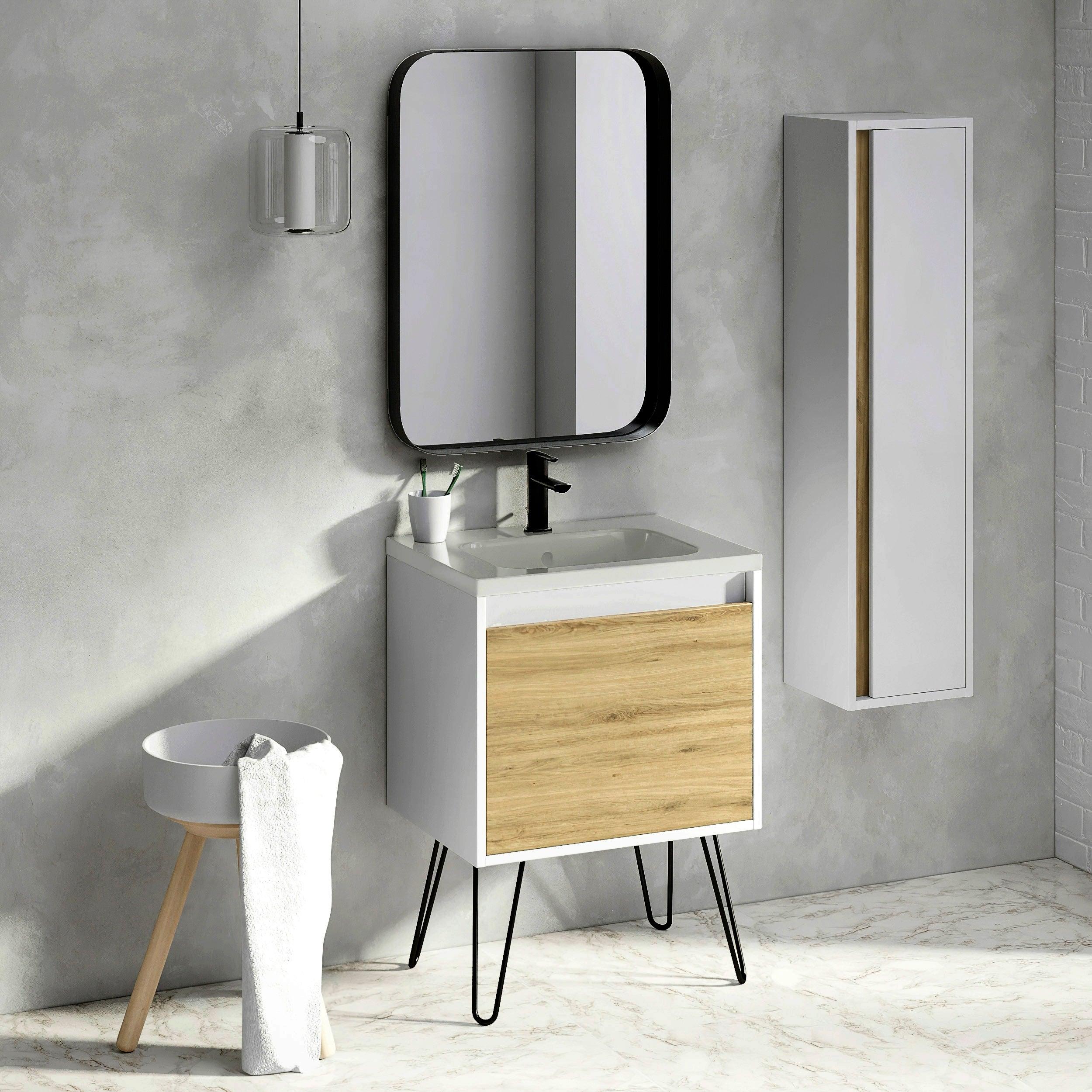 24 Bathroom Vanity Cabinet Legs Ceramic Sink Set Tribeca Fs W 24 X H 35 X D 18 In Wf440 Ginger Overstock 31624091