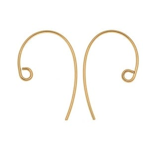 14K Gold Filled Bass Clef Ear Wire 21mm Long 20 Gauge Thick (4 Pieces)