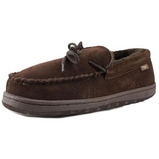 Dije California Moccasin Men Moc Toe Leather Brown Slipper