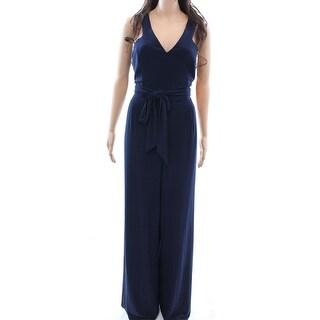 Lauren Ralph Lauren NEW Navy Blue Womens Size 10 V-Neck Jumpsuit