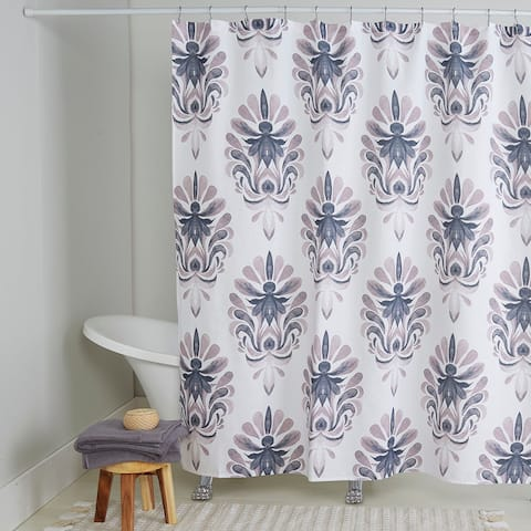 "Nicole Miller Cotton Shower Curtain, Emery, 72""x72"""