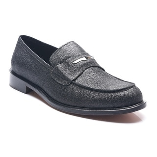 Bruno Magli Men's Leather Padusia Glitter Penny Loafers Shoes Black
