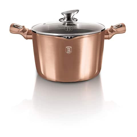 Berlinger Haus Pasta and Rice Pot 6.3 qt with Lid, Rose Gold Collection