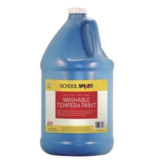 School Smart Non-Toxic Washable Tempera Paint, 1 gal Plastic Bottle, Turquoise
