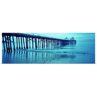 """Pier at sunset, Malibu Pier, Malibu, Los Angeles County, California,"" Poster Print"