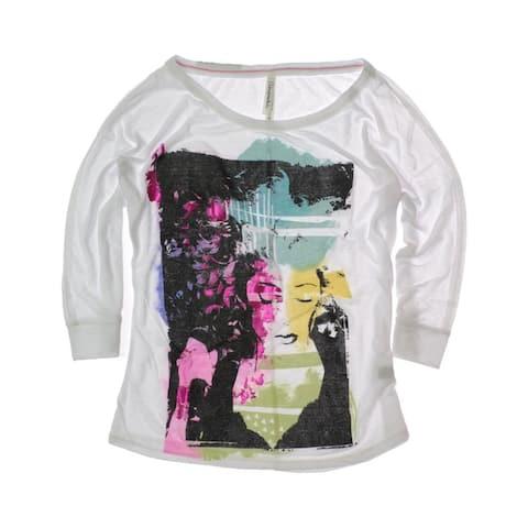 Aeropostale Womens 3/4 Sleeve Dream Images Dolman Crew Graphic T-Shirt