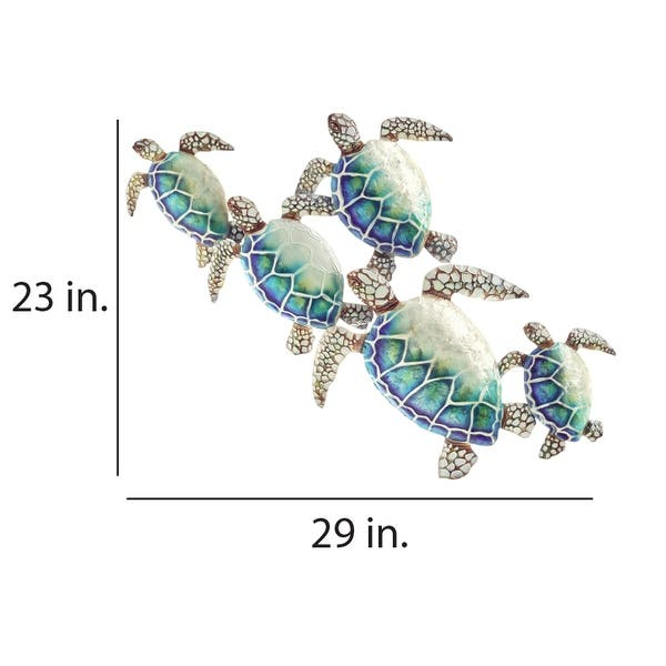 Shop Sea Turtle Wall Decor Group Of Five - 7 x 79 x 73 - On Sale