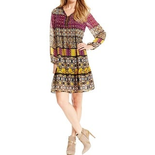 NY Collection Womens Casual Dress Peasant Pleated