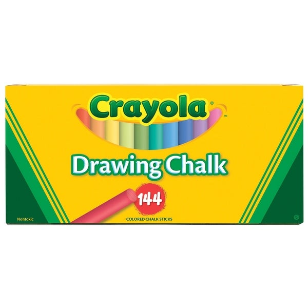 crayola non toxic drawing chalk assorted colors pack of 144 free