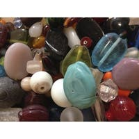 Stanislaus Imports Clear Glass Bead Assortment, 1 lb