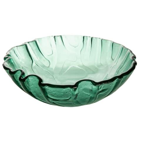 Eden Bath Green Free form Wave Glass Vessel Sink