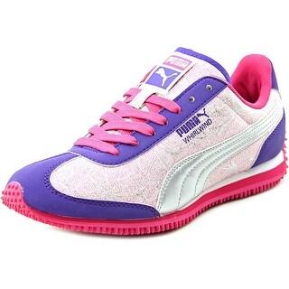 Puma Whirlwind Swirl JR Round Toe Canvas Sneakers