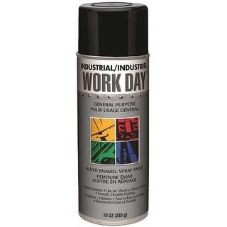 A04402000 10 oz Krylon Spray Enamel Can #44; Gloss Black